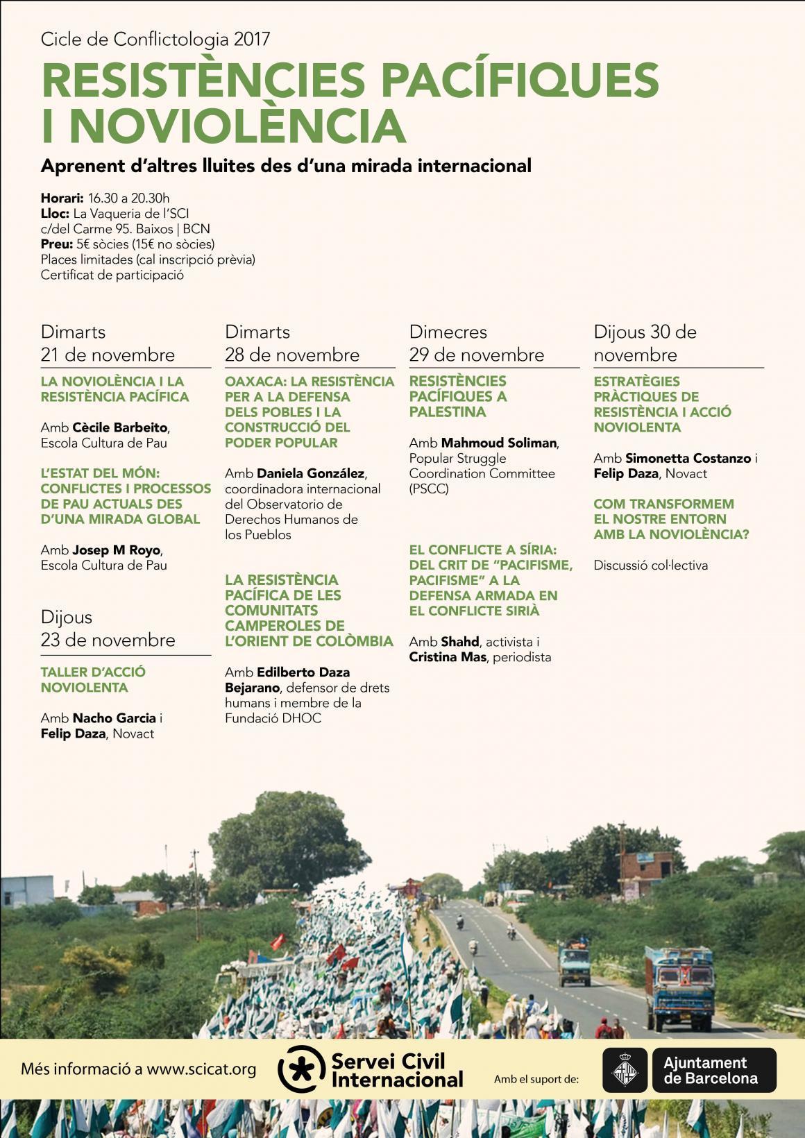Curs de conflictologia: Resistències pacífiques i noviolència