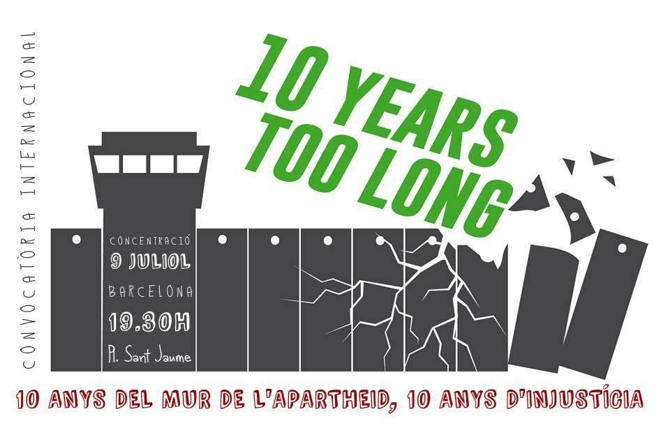Dimecres 9, a les 19.30h concentració en suport a Palestina!