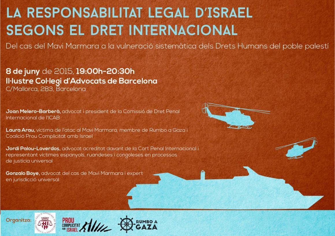 És possible portar a Israel a judici per crims contra la humanitat? En parlem el 8 de juny!