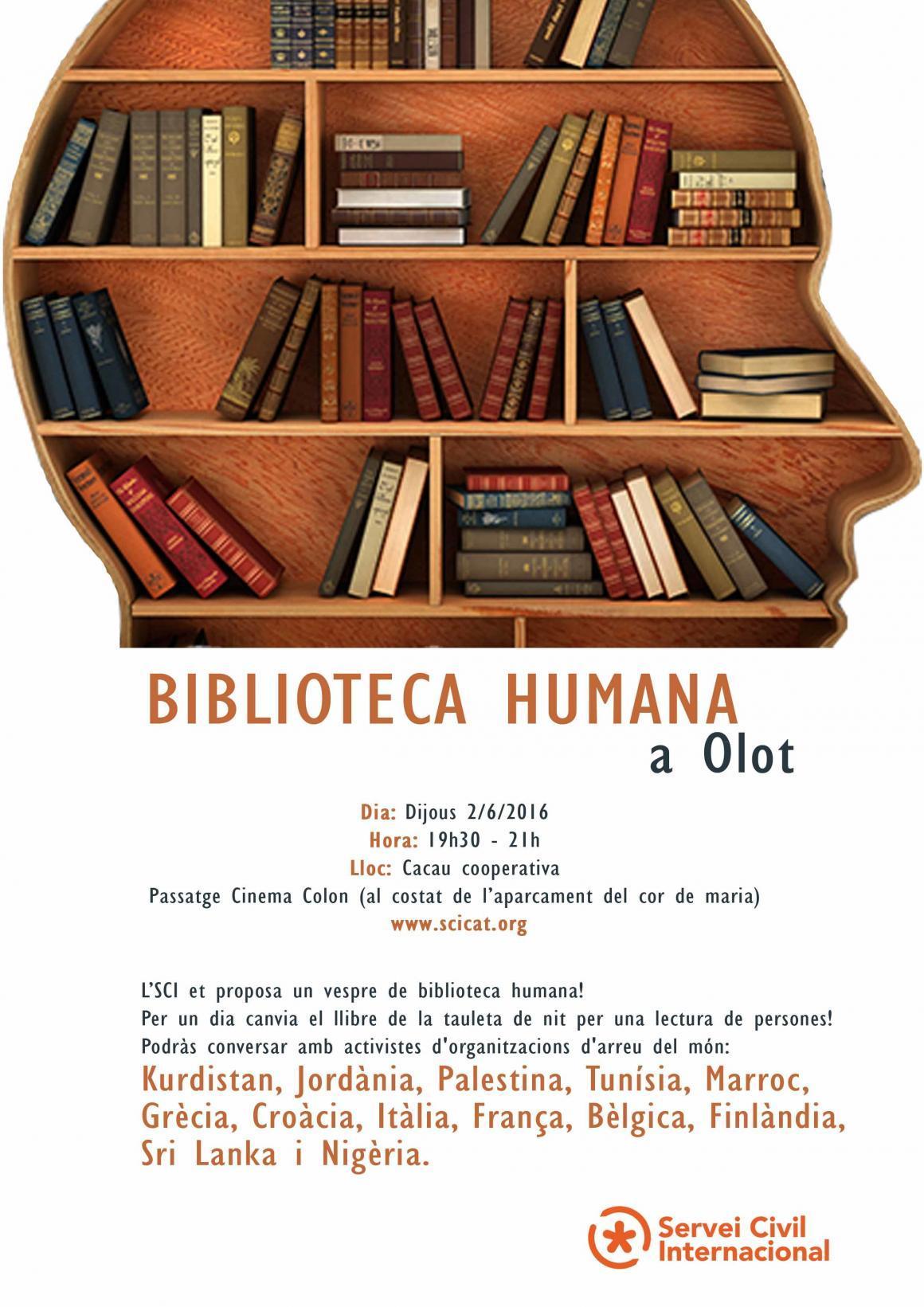 Biblioteca humana a Olot amb voluntaris internacionals!