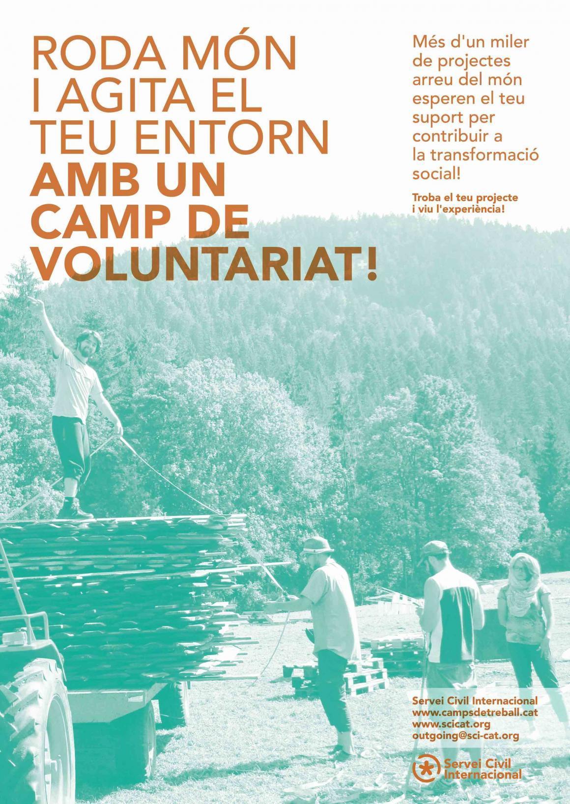 Roda món i agita el teu entorn amb un camp de voluntariat aquest estiu!