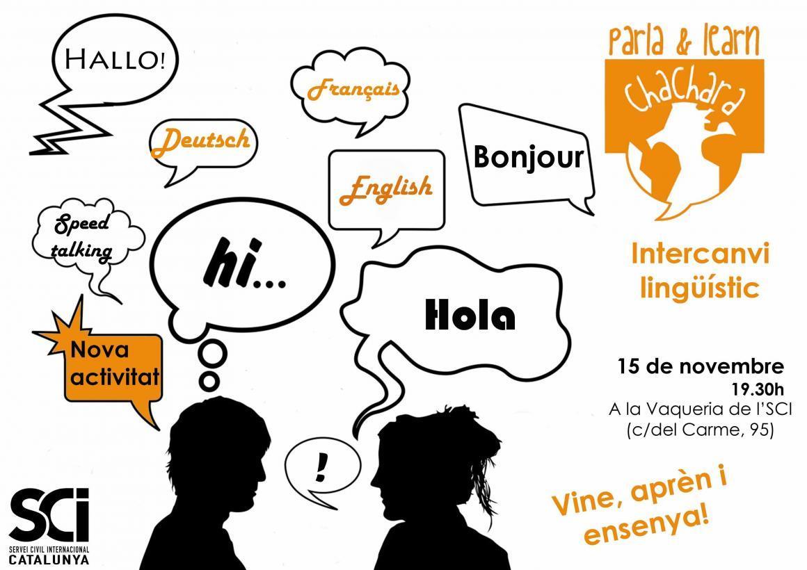 Practicar idiomes de forma divertida, pràctica i gratuïta: Vine a l'intercanvi lingüístic!