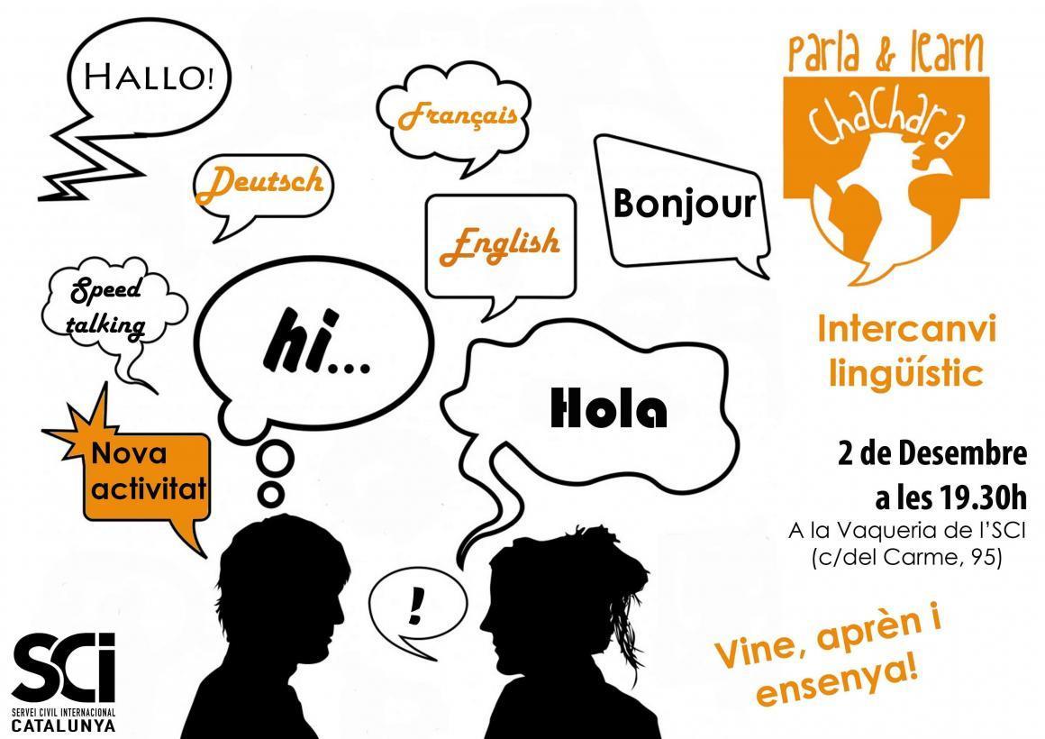 2 de Desembre. Segona trobada d'Intercanvi lingüístic!