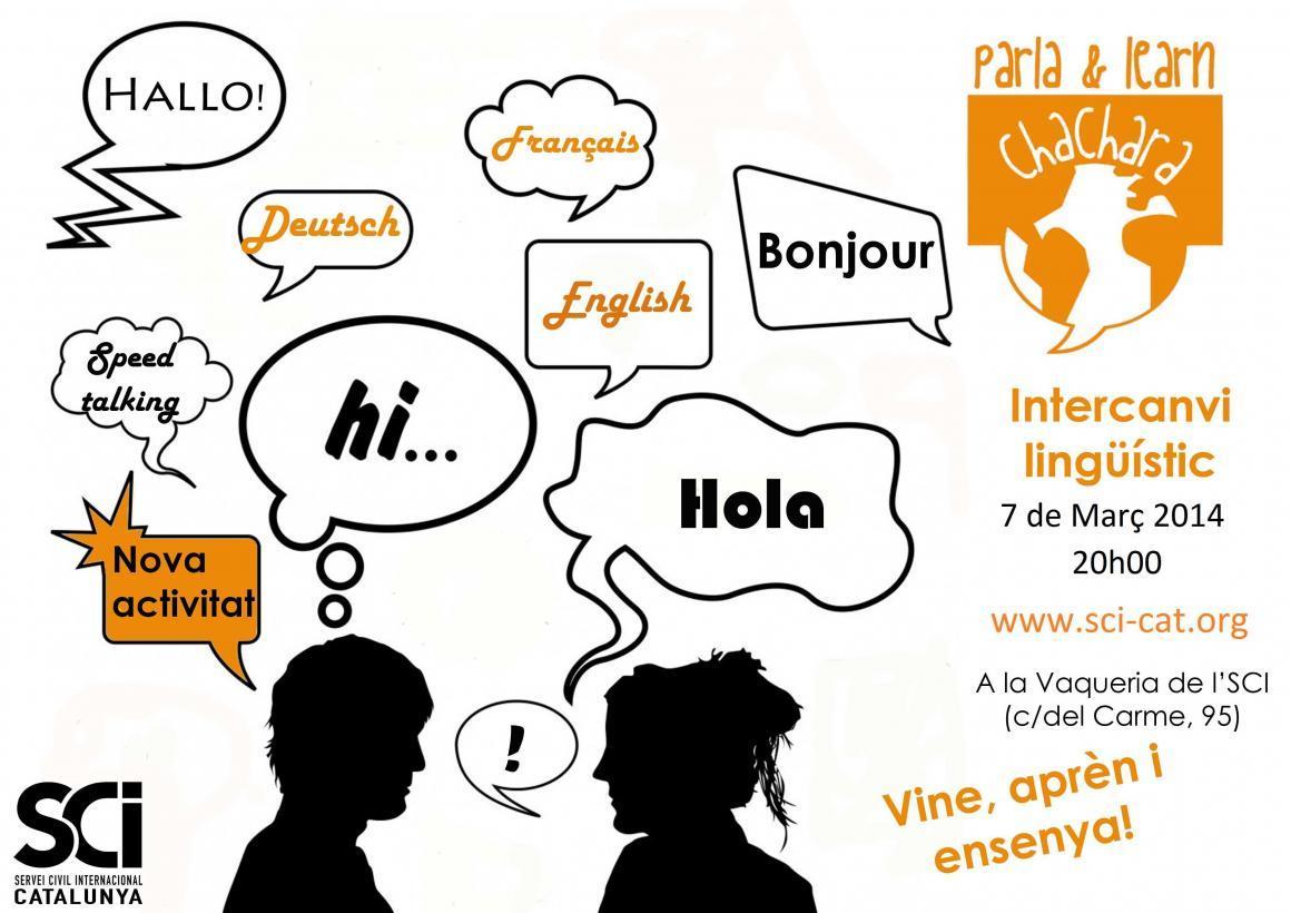 Noves dates d'intercanvi lingüístic! La primera el 7 de Març!