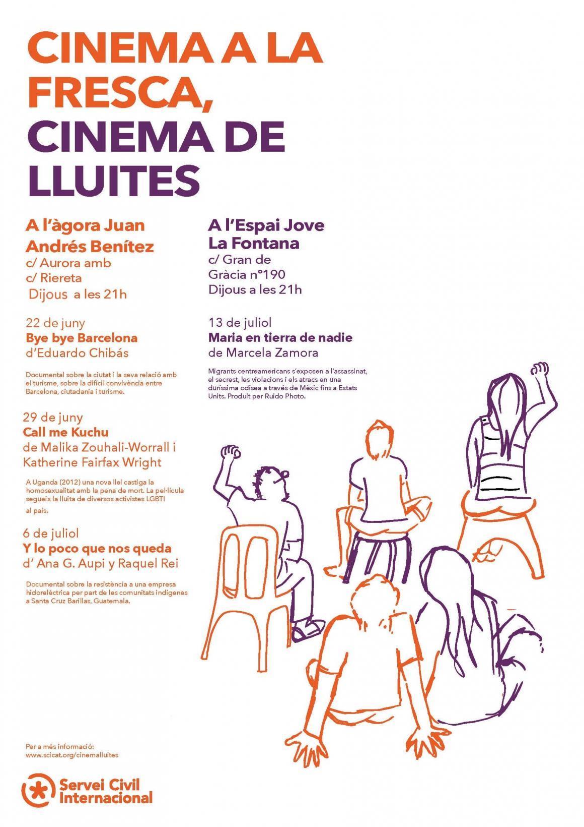 Cinema a la fresca, cinema de lluites!