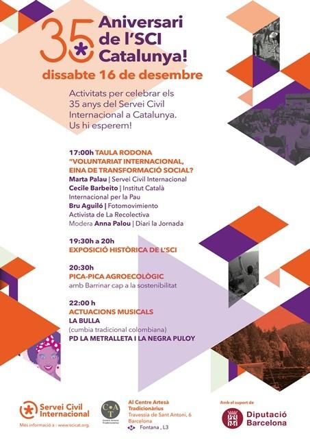 El 16 de desembre celebrem el 35è aniversari de l'SCI Catalunya!