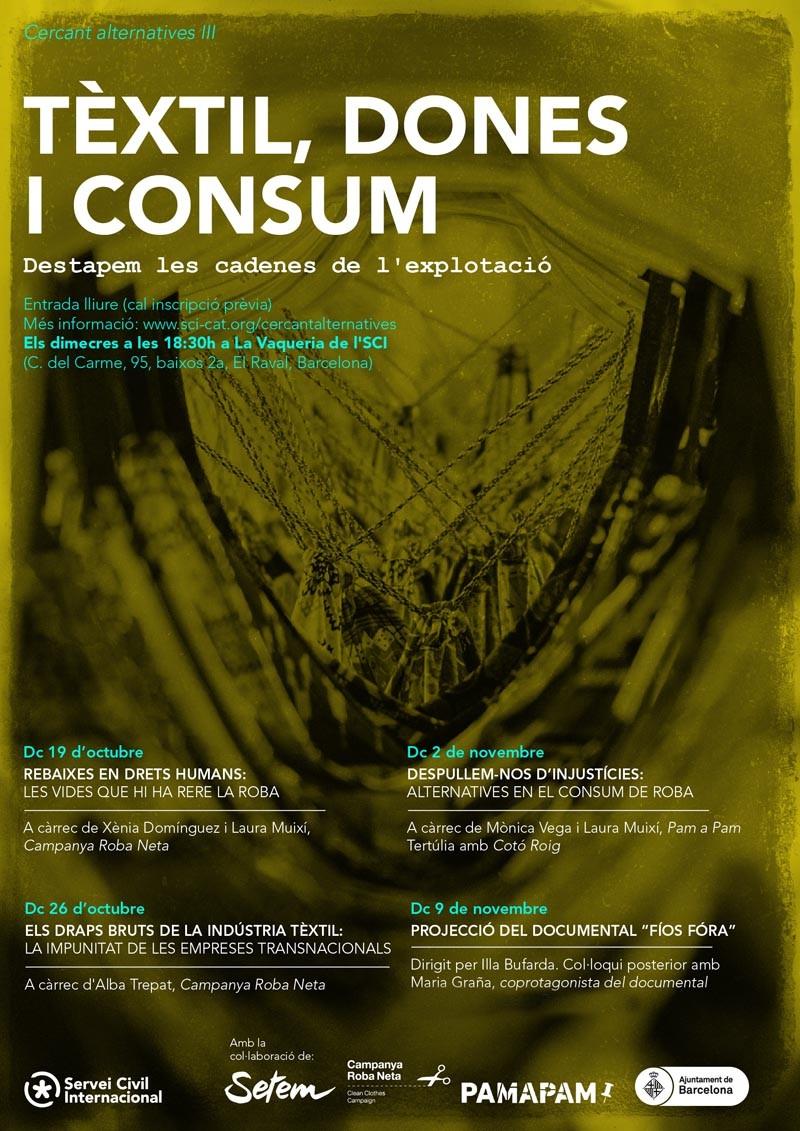"""""""Tèxtil, dones i consum"""", la tercera edició de Cercant Alternatives"""