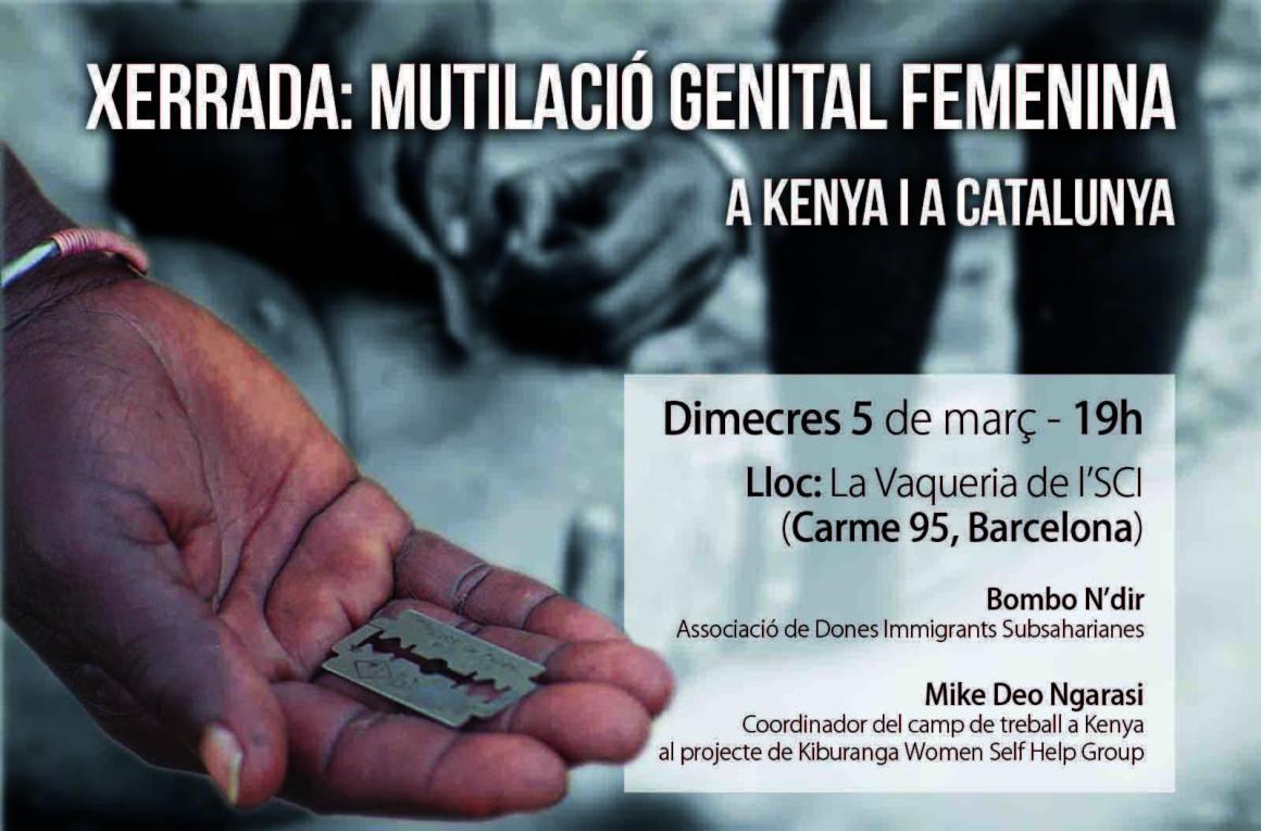Dimecres 5: Xerrada-debat sobre la lluita contra la mutilació femenina a Kenya i a Catalunya