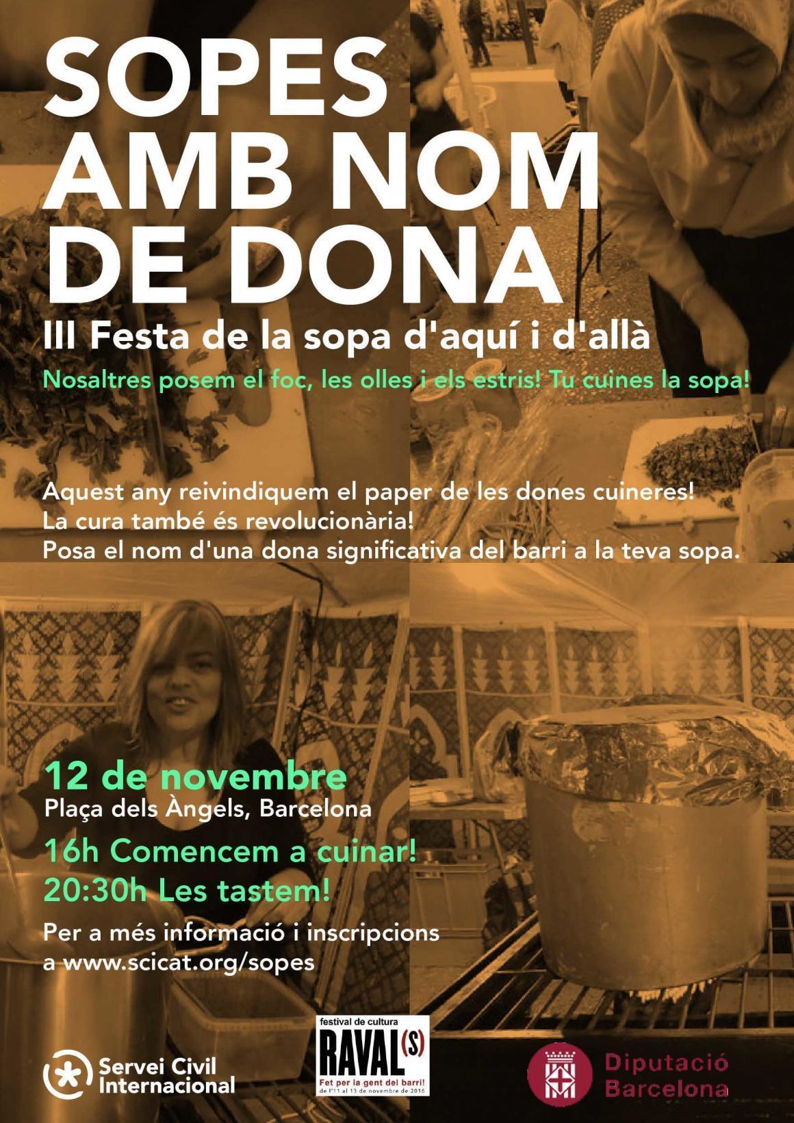 """Participa a la """"Festa de les sopes amb nom de dona""""!"""