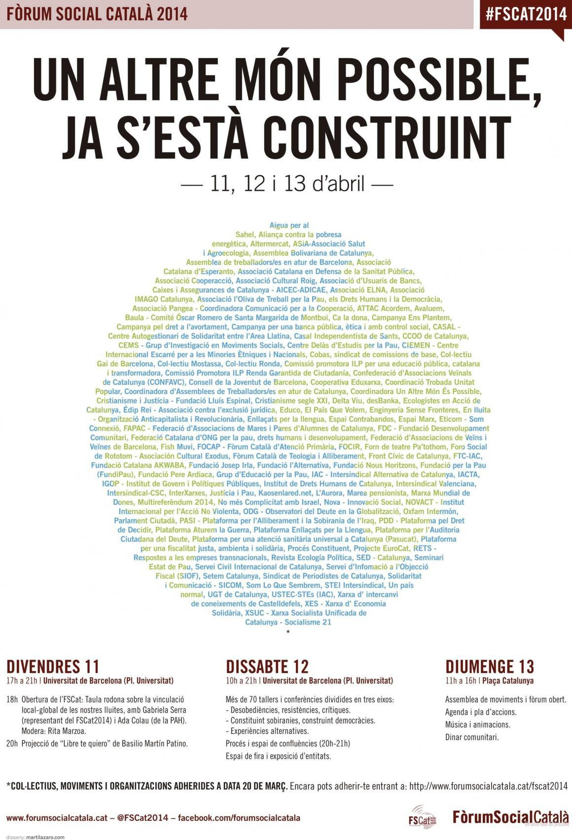 L'SCI organitza una Biblioteca Humana al Forum Social Català. T'apuntes?