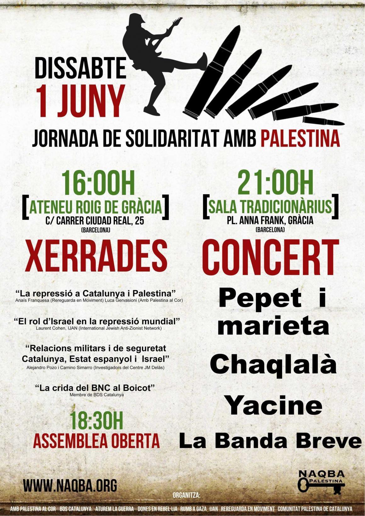 Participa a les jornades de Solidaritat amb Palestina!