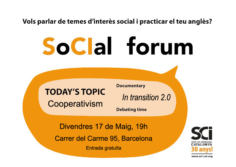 Torna el Social Forum! Do you want to talk about COOPERATIVISM?