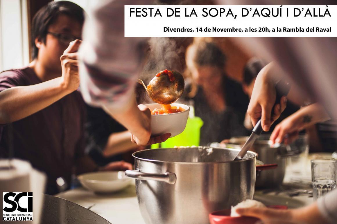 Participa a la Festa de la Sopa, d'aquí i d'allà al Raval!