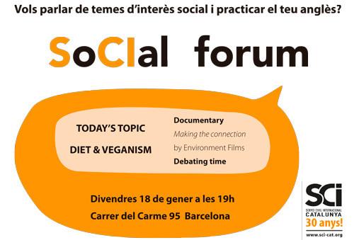 Segona sessió del SoCIal Forum: nutrició i veganisme!