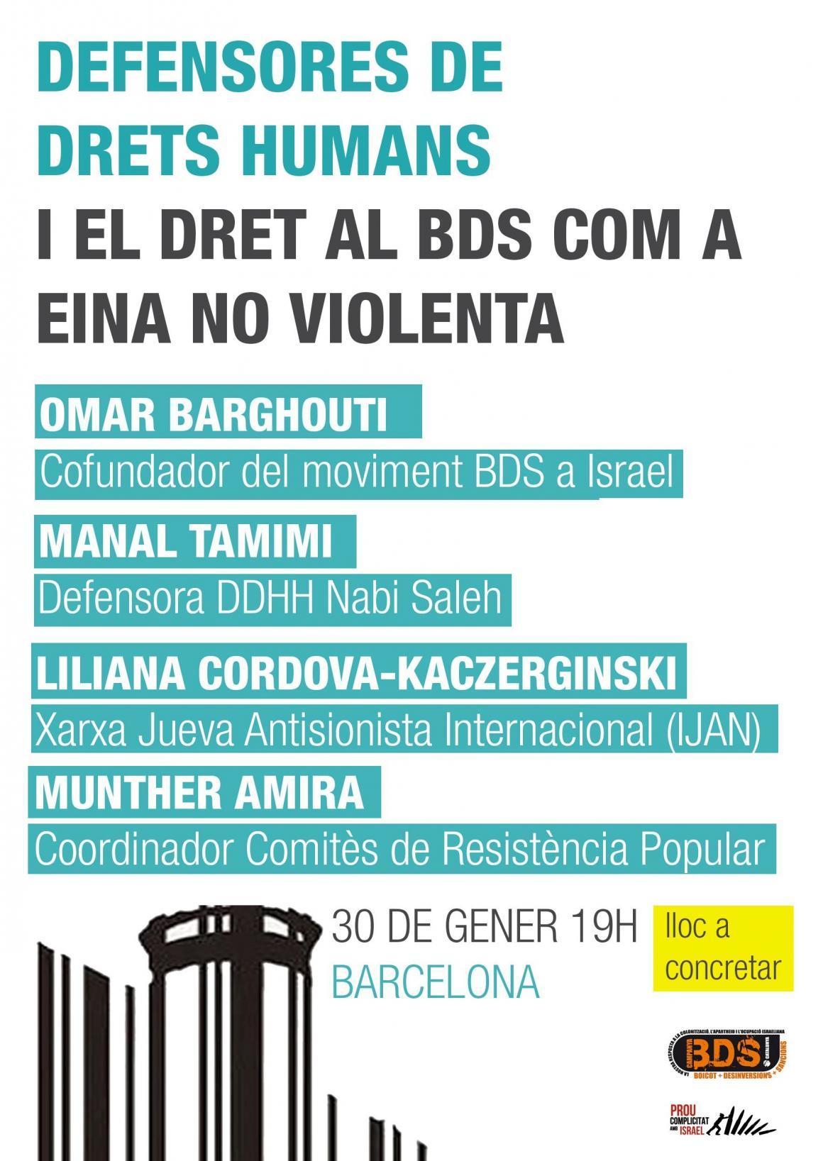 Defensores dels drets humans i el BDS com a eina no violenta
