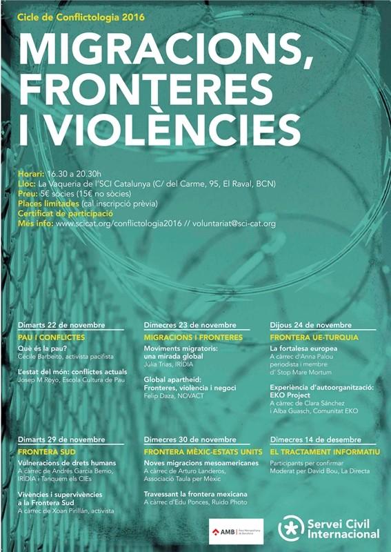 Curs de conflictologia: Migracions, fronteres i violències