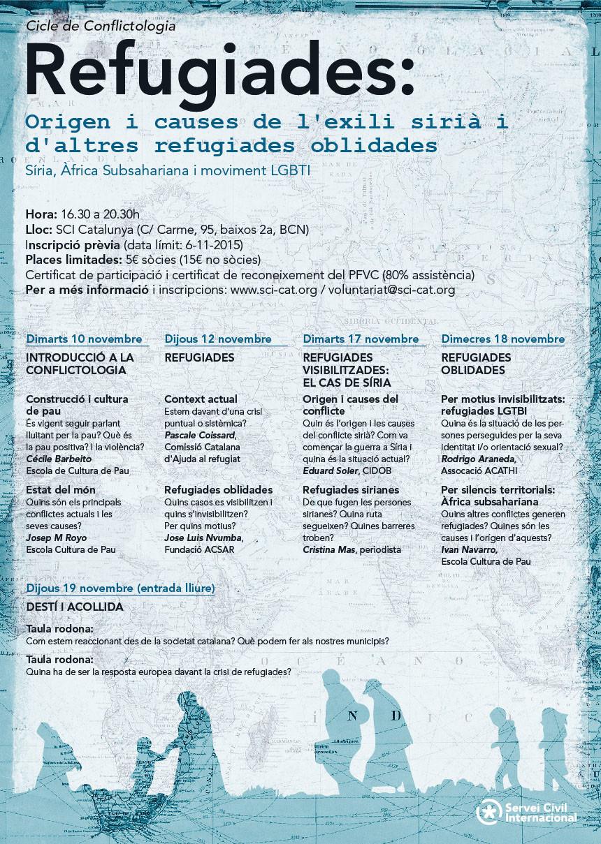 Curs de conflictologia: Refugiades. Origen i causes de l'exili sirià i d'altres refugiades oblidades