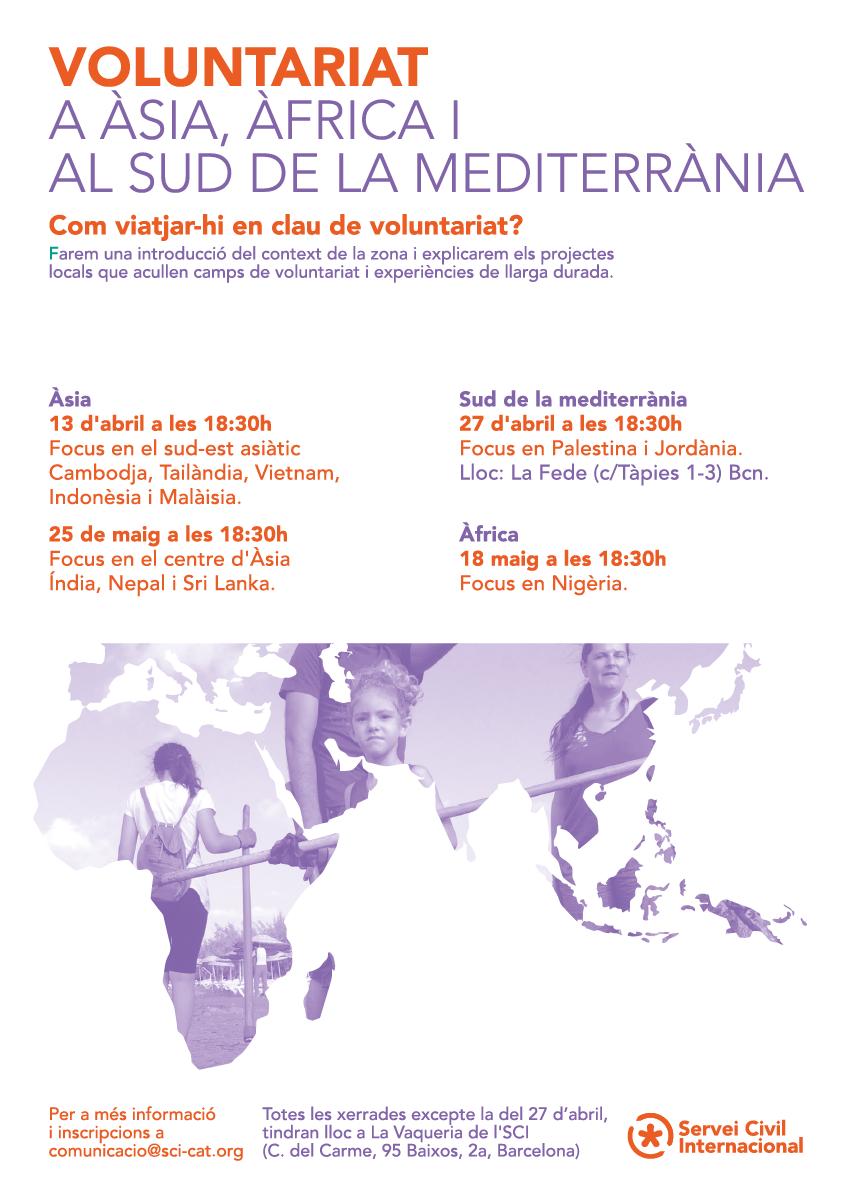 Voluntariat a Àsia, Àfrica i al sud de la mediterrània