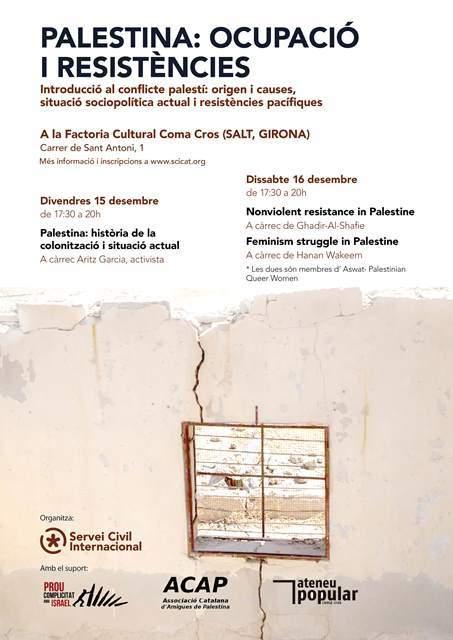 Formacions sobre la resistència i la lluita feminista a Palestina a Tarragona i Salt