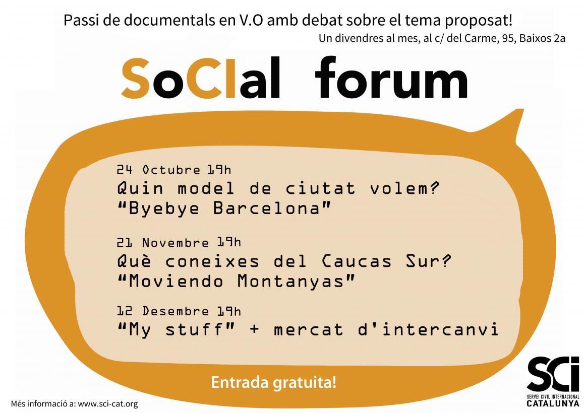"""12 de Desembre: """"My Stuff"""" al darrer SoCIal Forum de l'any!"""