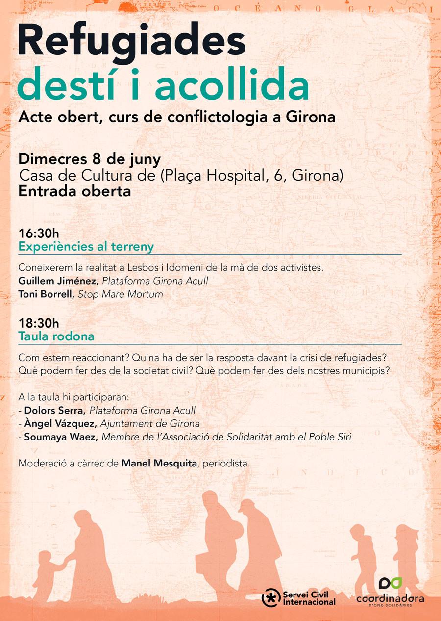 Conflictologia a Girona. Refugiades: Destí i acollida
