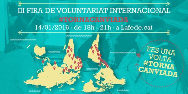 Vine a la III Fira de voluntariat internacional!