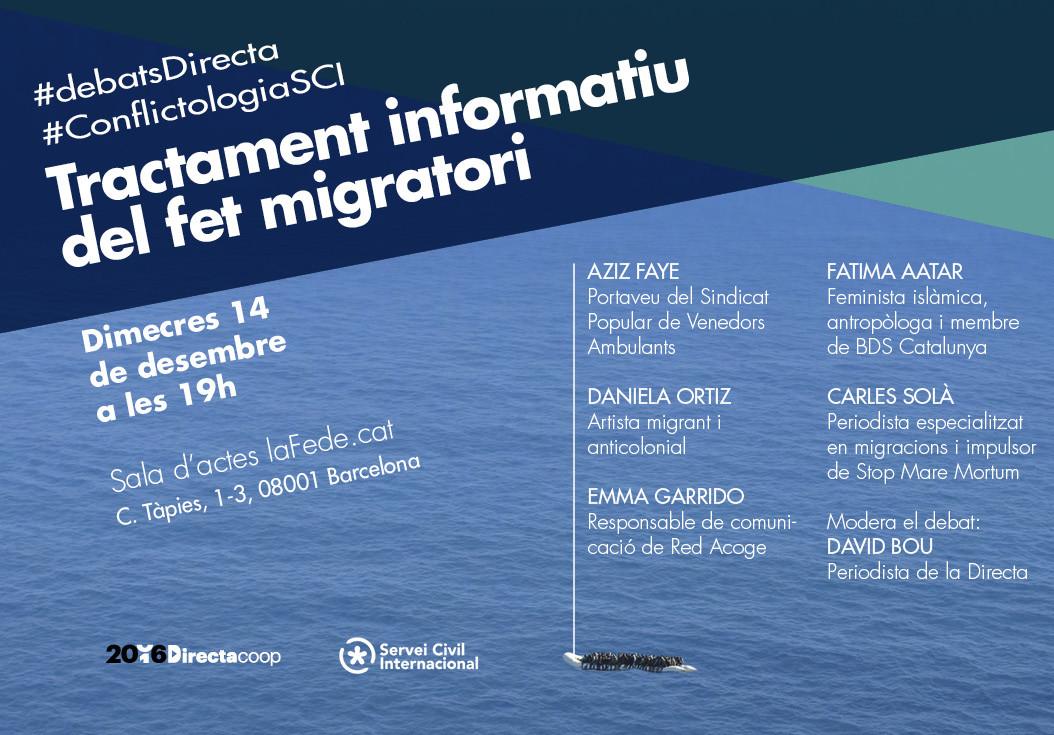 Taula rodona: El tractament informatiu del fet migratori