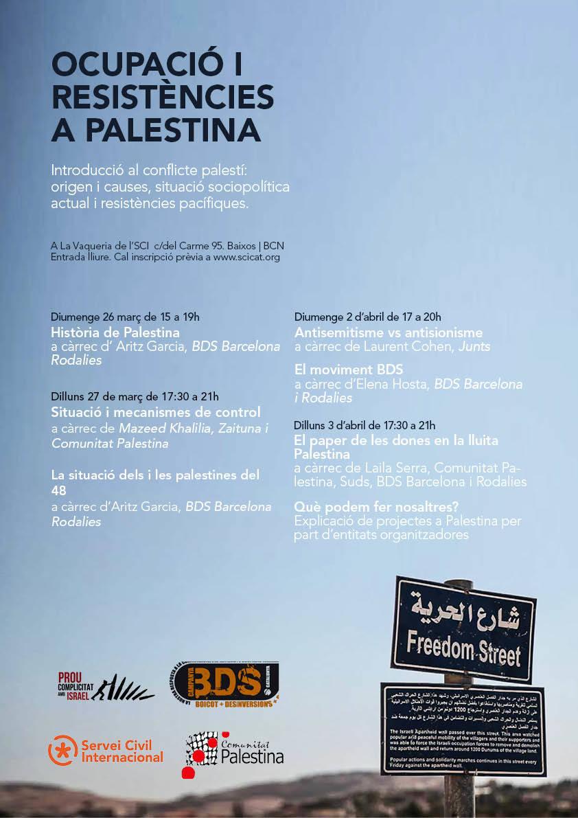 """Formació """"Ocupació i resistències a Palestina"""""""