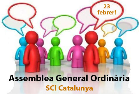 Dissabte 23 de febrer celebrem l'Assemblea de l'SCI Catalunya