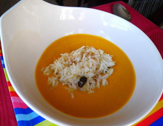 Sopa de carbassa i arròs – Sopa d'arròs i pollastre – Sopa de farigola – Las receptas de Laura Garcia