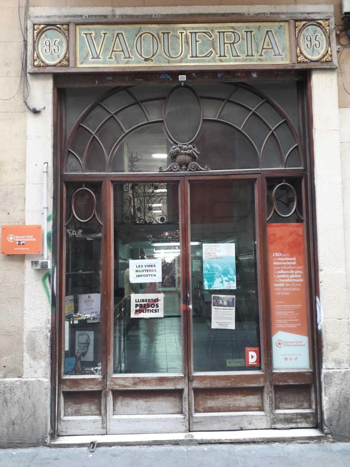 Oficina tancada per obres
