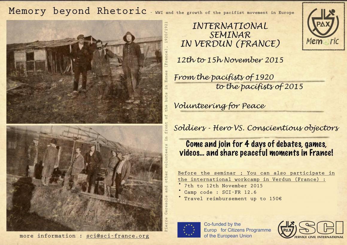 Seminari de memòria història i pau a Verdun! Que no se t'escapi!