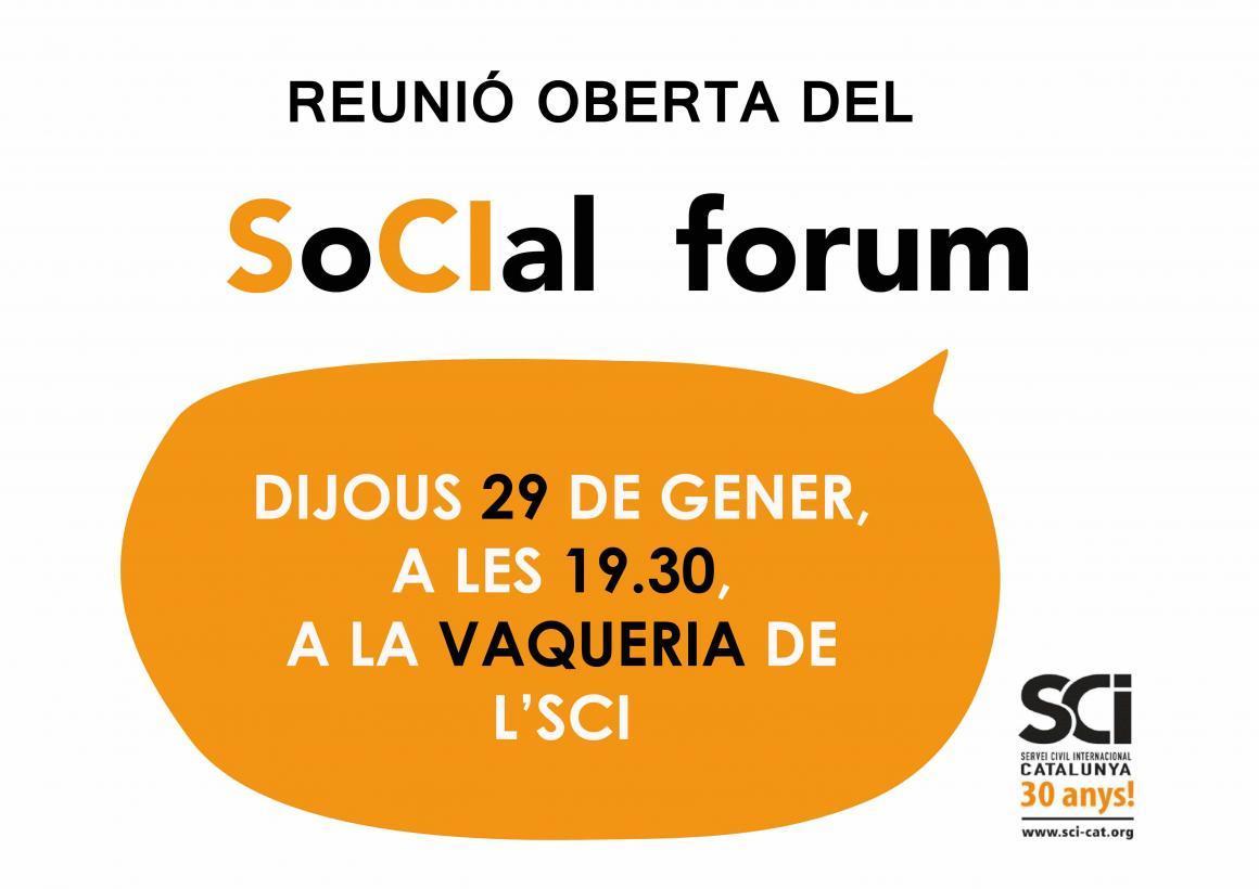 El SoCIal Forum necessita una empenta! T'hi apuntes?