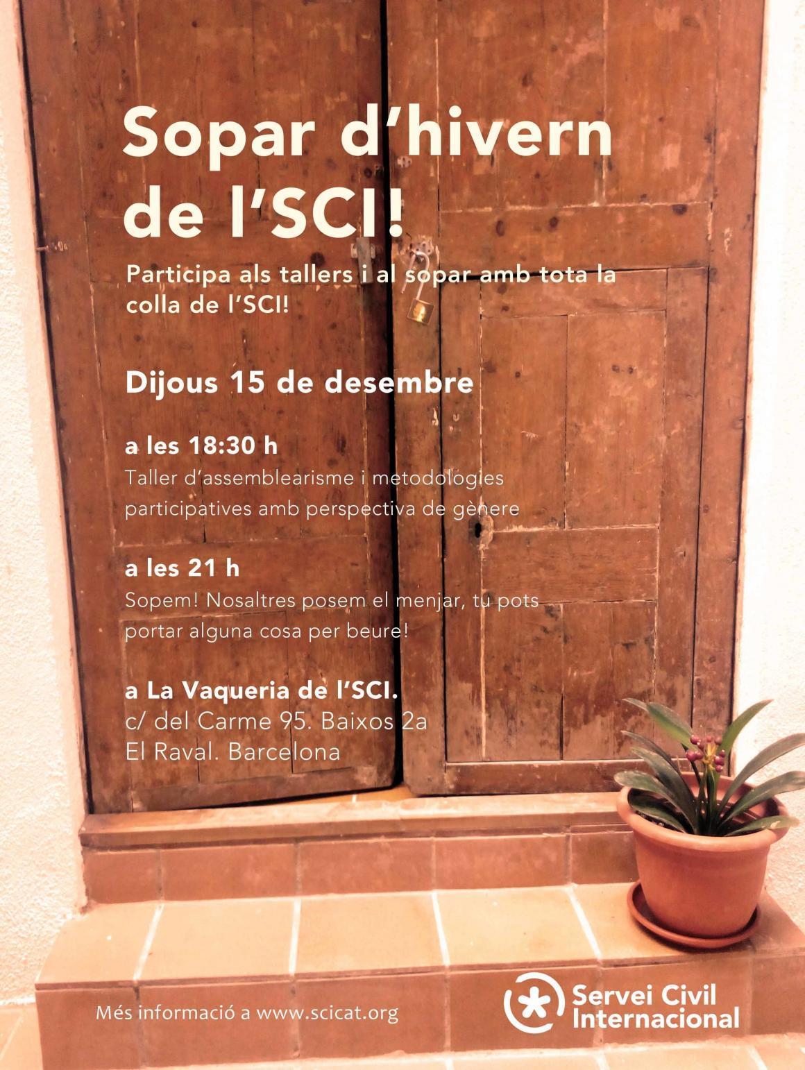 Vine al sopar d'hivern de l'SCI el 15 de desembre!