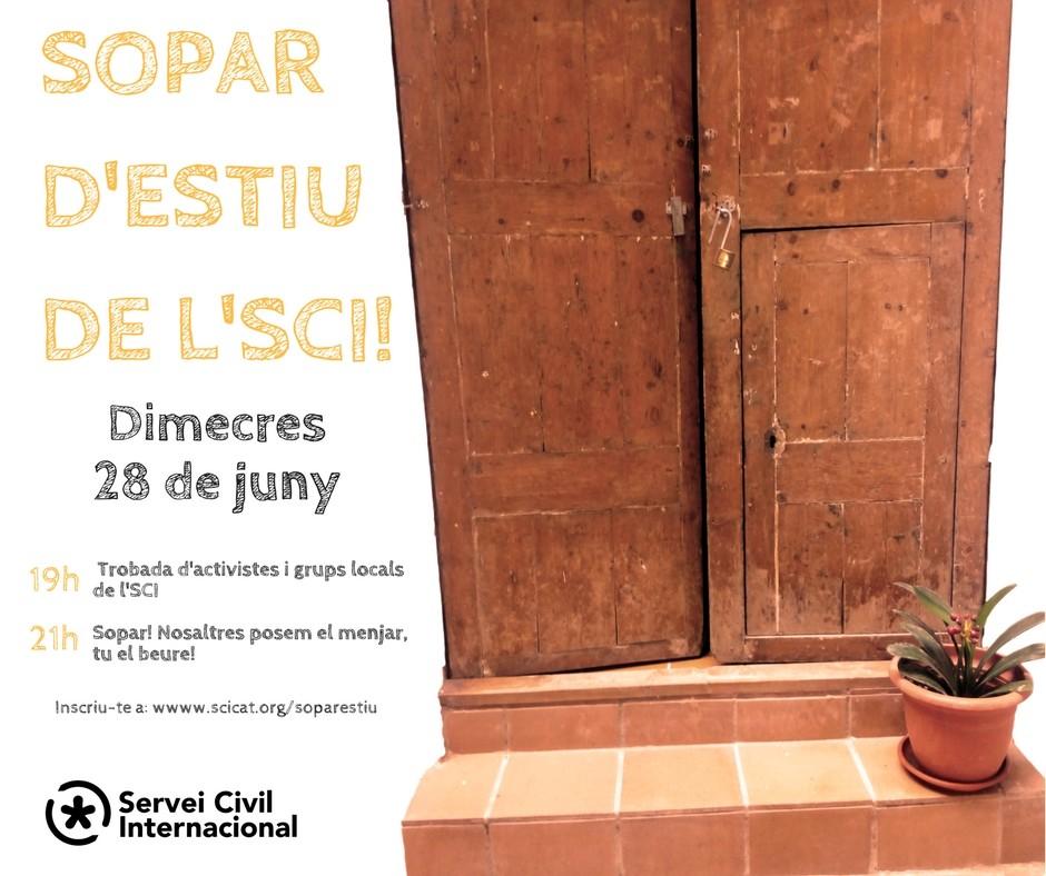 Vine al sopar d'estiu de l'SCI!