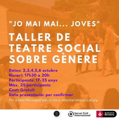 Jo Mai Mai… Joves: Taller de teatre social sobre gènere!