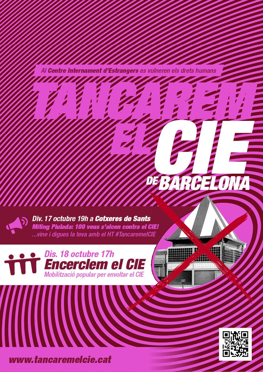 Aquest dissabte: Setge al CIE de Zona Franca! #TancaremElCIE