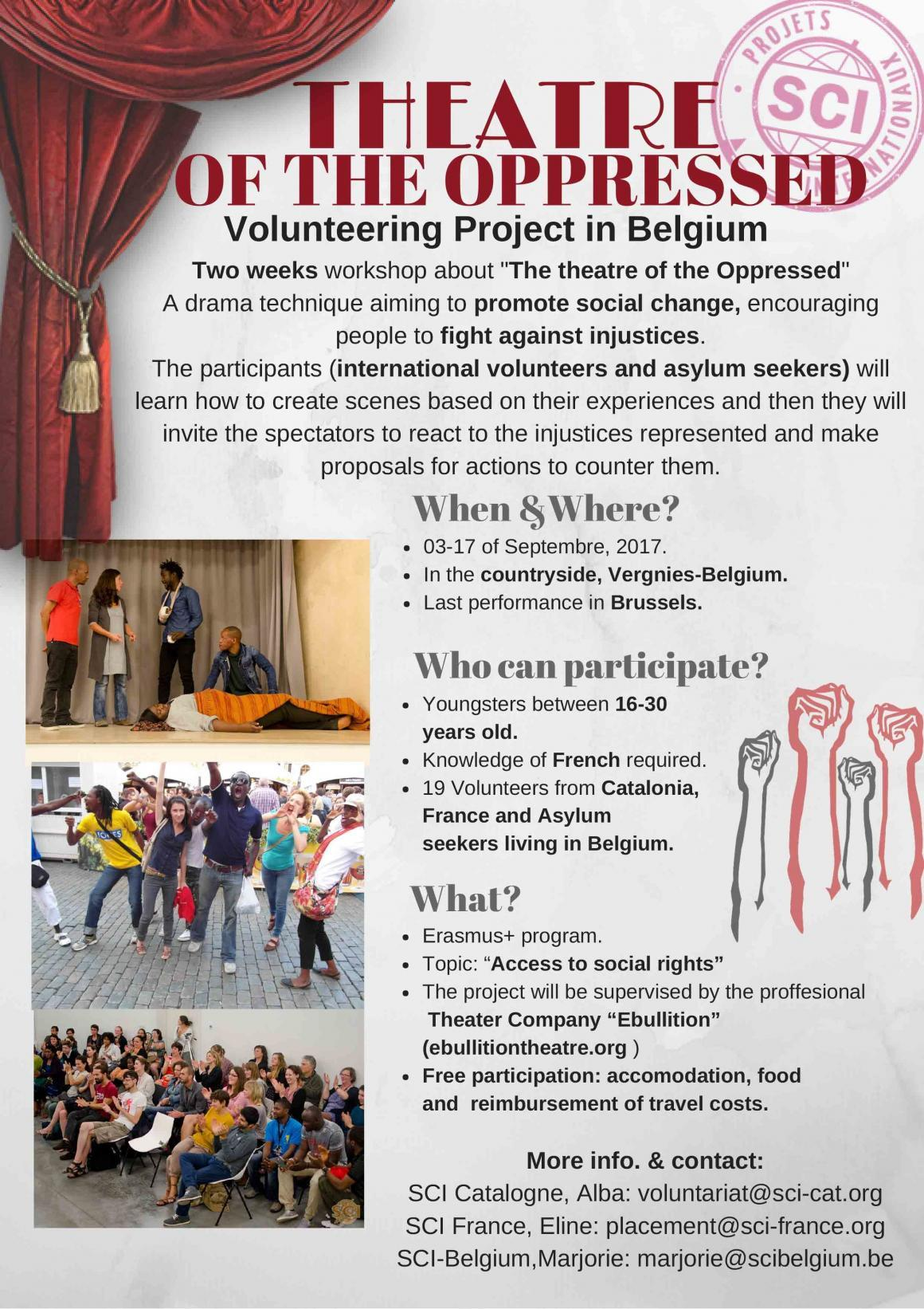 Participa en un projecte internacional sobre Teatre de l'Oprimit!