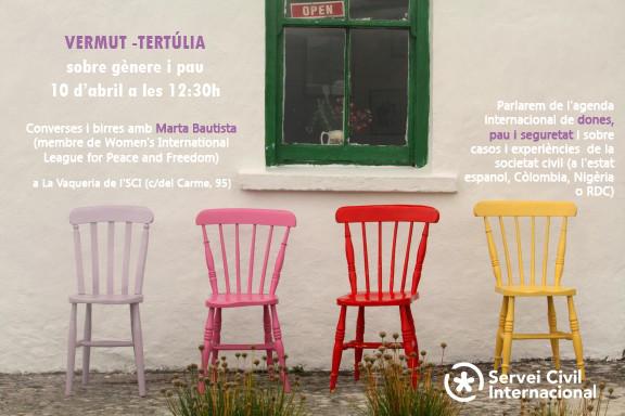 Vermut-Tertúlia sobre Gènere i Pau amb Marta Bautista
