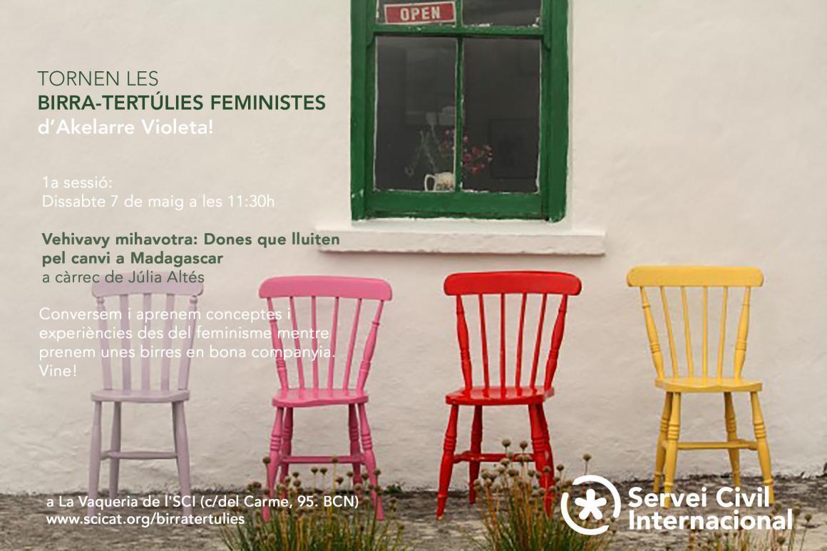 Tornen les birra-tertúlies feministes d'Akelarre violeta!