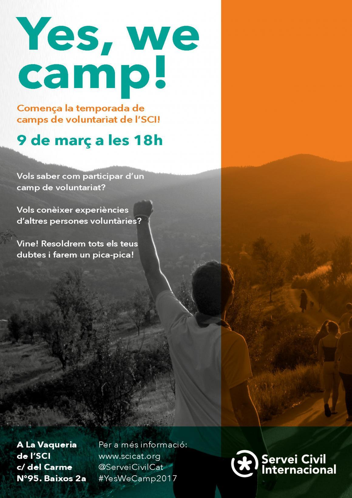 "El 9 de març vine al ""Yes, we camp 2017!"""