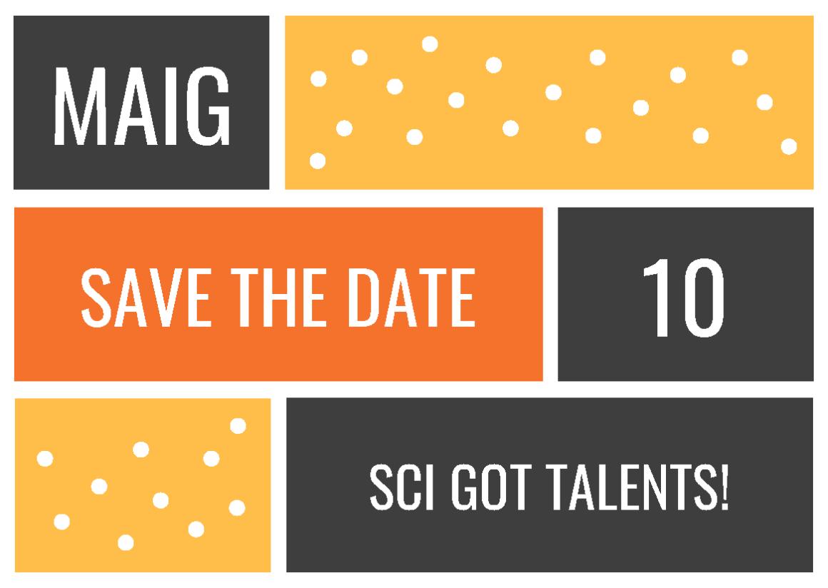 El 10 de maig vine al SCI got talents!
