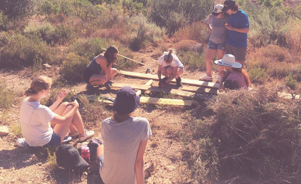 Camp de treball sobre la recuperació del territori a Castelldans
