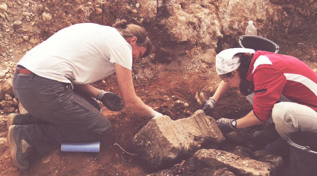 Camp de treball sobre arqueologia a Sant Martí Sesgueioles